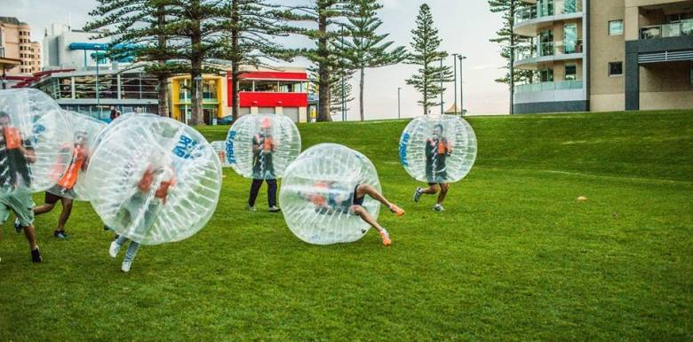 Byron bay bucks party bubble soccer