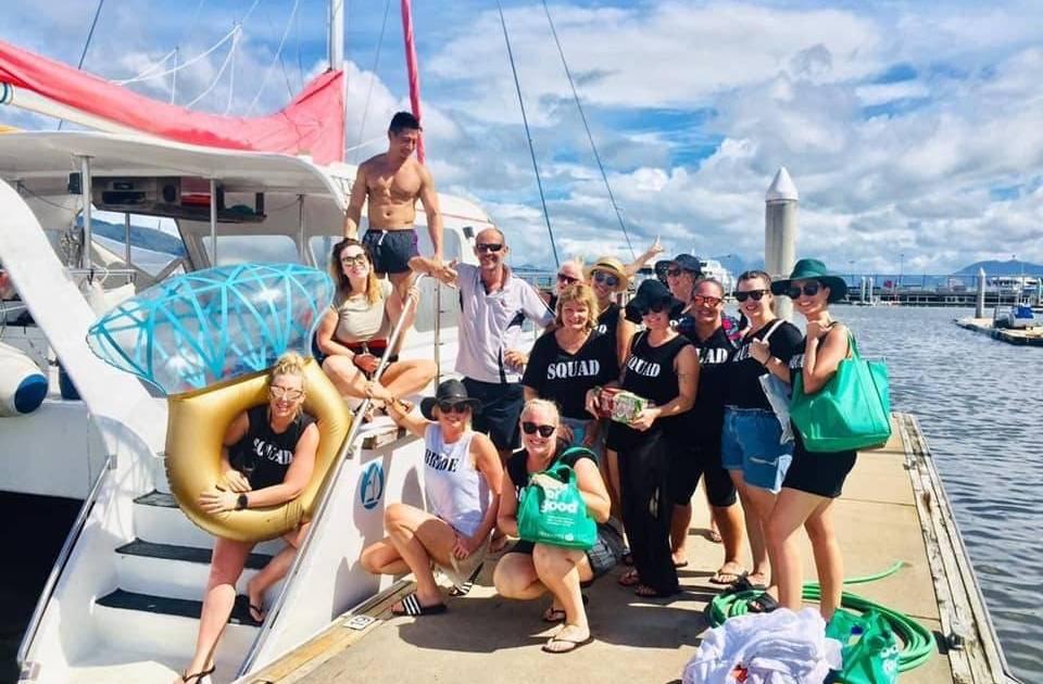 CairnsHensPartyBoatToplessWaiterPrivateCharter