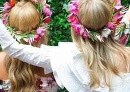gold coast hens party flower crown workshop